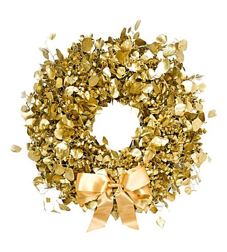 PHILIPPA CRADDOCK Decadent gold Christmas wreath