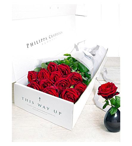 PHILIPPA CRADDOCK 24 Decadent Roses flower box