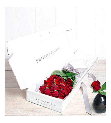 PHILIPPA CRADDOCK Twelve Petite Roses flower box