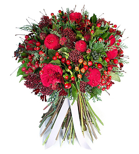 PHILIPPA CRADDOCK Classic rich wintry red bouquet