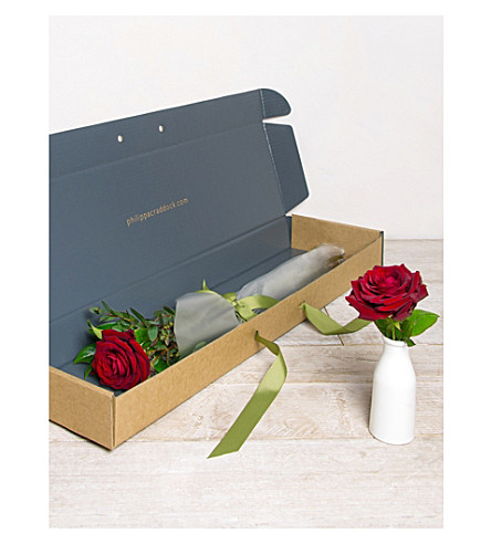 PHILIPPA CRADDOCK Single Red Rose flower box