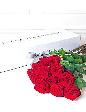 PHILIPPA CRADDOCK Twelve red roses bouquet