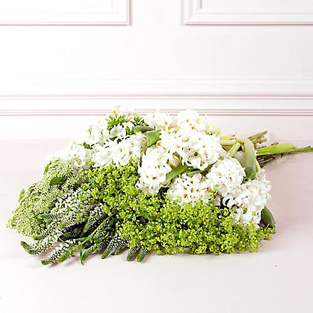 PHILIPPA CRADDOCK Seasonal white and green medium flower box