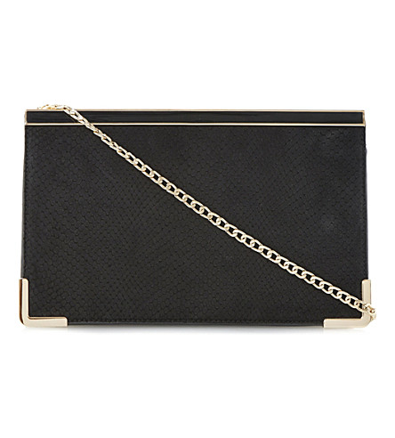 DUNE Buskies snake-effect clutch (Black-synthetic reptile