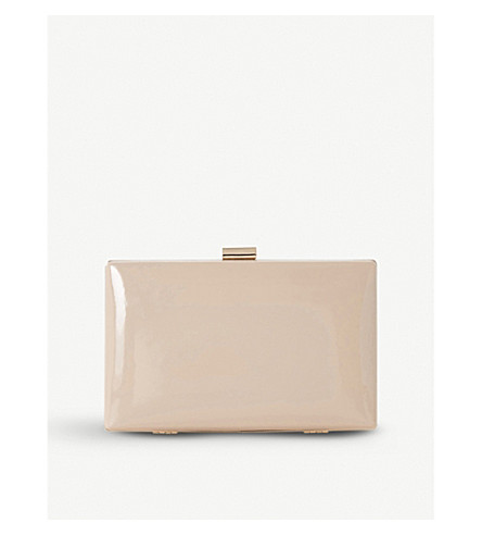 DUNE Brocco patent clutch bag (Nude-patent