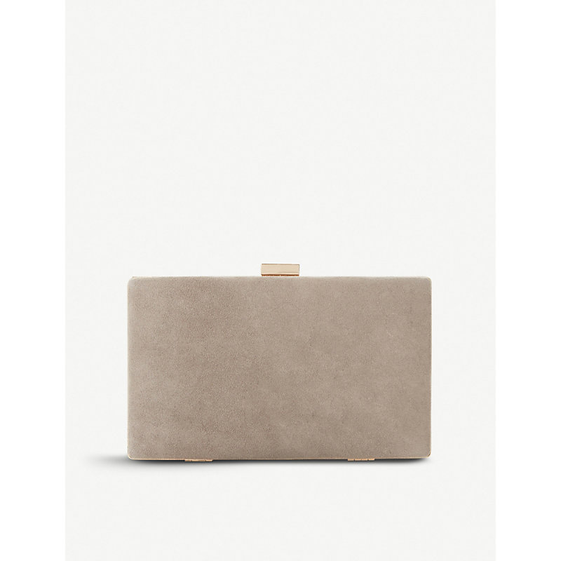 Brocco suede clutch bag