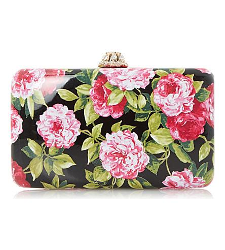 DUNE Belle hard case clutch bag (Black-synthetic