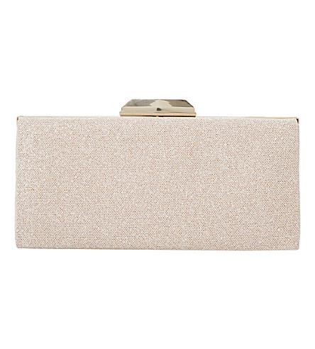 DUNE Barrbie metallic fabric clutch bag (Blush-fabric