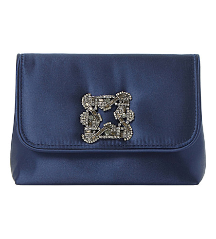 DUNE Beston embellished handbag (Navy-satin