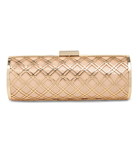 DUNE Bashment metal clutch (Blonde-patent