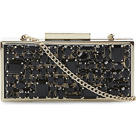 DUNE Jewel-encrusted clutch (Black-synthetic