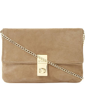 DUNE Beautifuls suede clutch