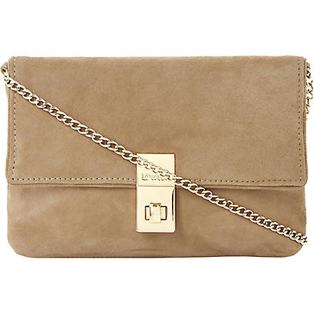 DUNE Beautifuls suede clutch (Mink-suede