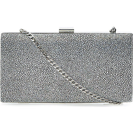 DUNE Bingray printed clutch (Black white-metallic