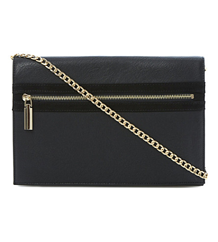 DUNE Ezip leather clutch (Black-synthetic