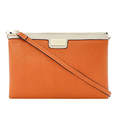 DUNE Eboomie faux-leather clutch (Orange-synthetic