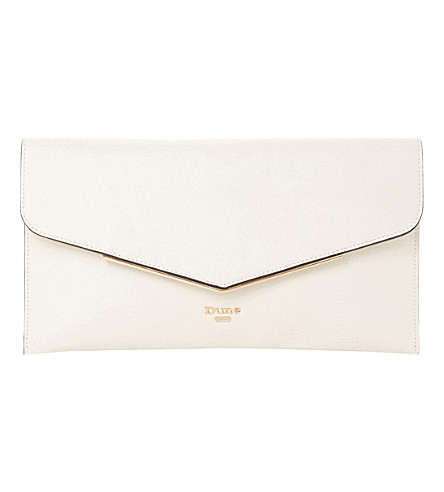 DUNE Epeonnie envelope clutch bag (Cream-plain synthetic