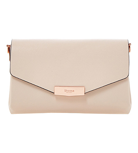 DUNE Exie textured clutch bag (Nude-plain synthetic