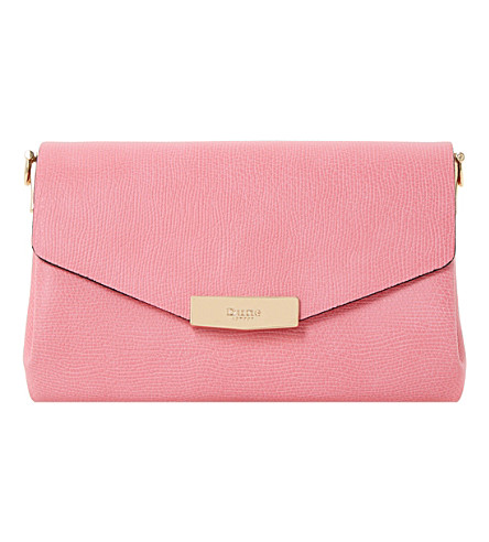 DUNE Exie textured clutch bag (Pink-plain+synthetic