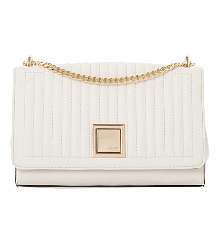 DUNE Edwyn chain strap quilted shoulder bag (Cream-plain+synthetic