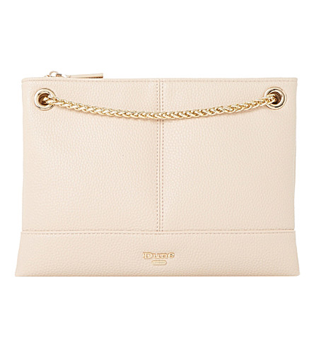 DUNE Eholly triple-pouch shoulder bag (Nude-plain+synthetic