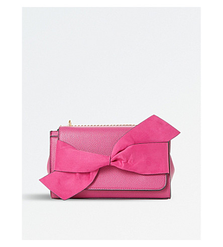 DUNE Elloie bow-detail shoulder bag (Pink-synthetic