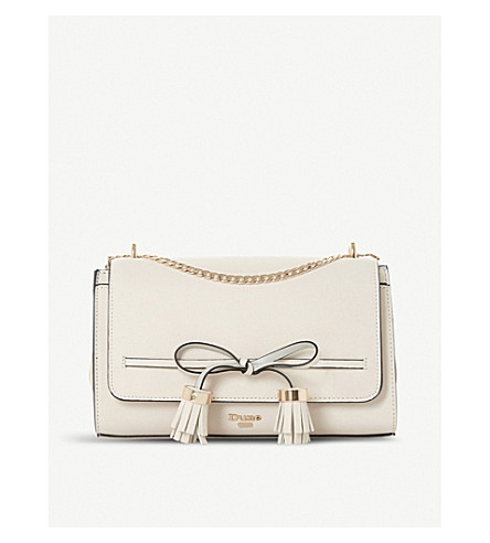 DUNE Essey bow-detail crossbody bag (Cream-plain+synthetic