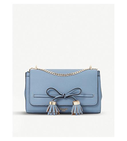 DUNE Essey bow-detail crossbody bag (Blue-plain+synthetic