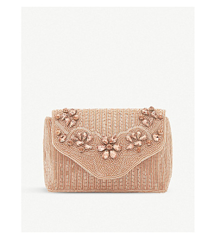 Ekko beaded clutch bag