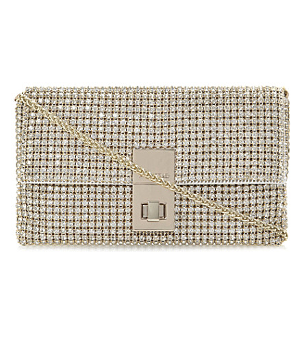 DUNE Eliza diamanté clutch (Gold-beaded
