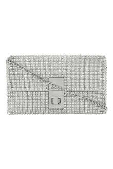 Eliza diamanté-embellished clutch