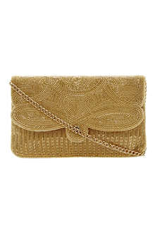 DUNE Eazie beaded clutch