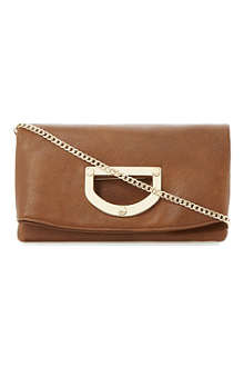 DUNE Elite leather foldover clutch