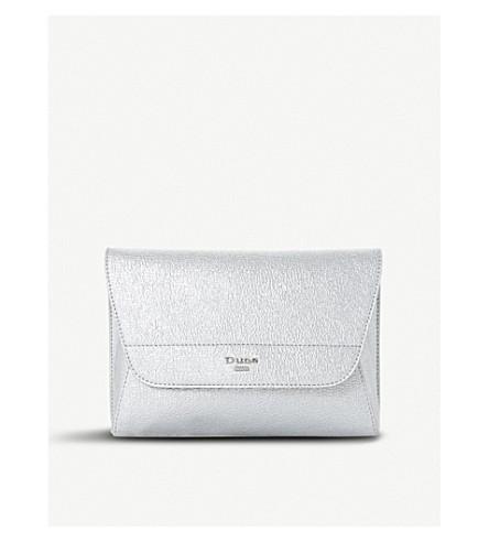 DUNE Ellanaa fold-over clutch bag (Silver-synthetic