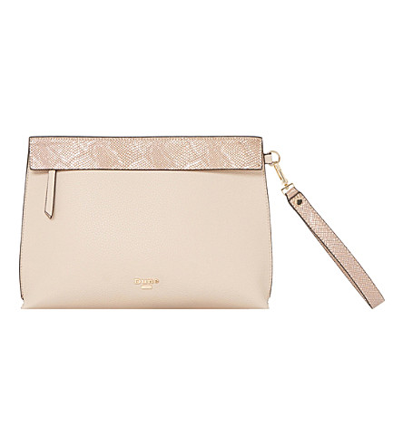 DUNE Eharriet faux-leather clutch bag (Nude-plain+synthetic