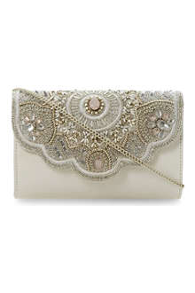 DUNE Endia beaded clutch bag