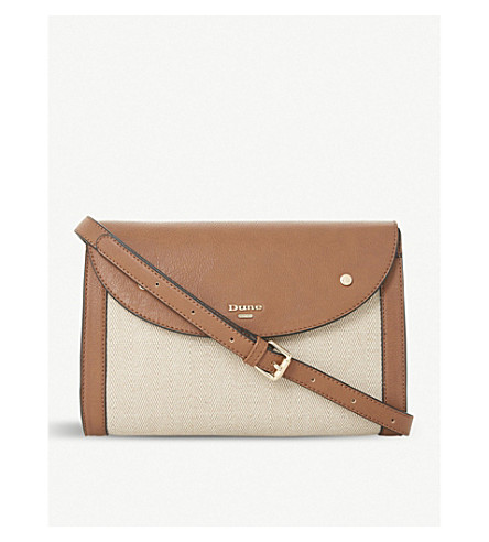DUNE Eldora cross-body bag (Tan-synthetic