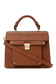 DUNE Datchel faux-leather satchel