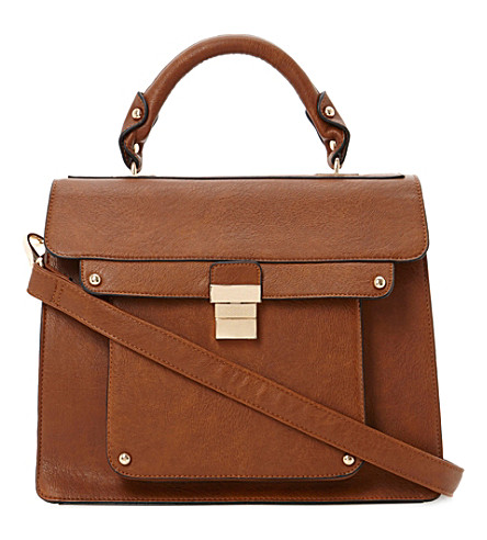 DUNE Datchel faux-leather satchel (Tan-plain pu