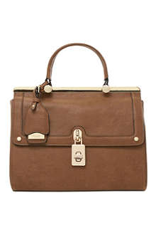 DUNE Dramey padlock-detail fold-over tote