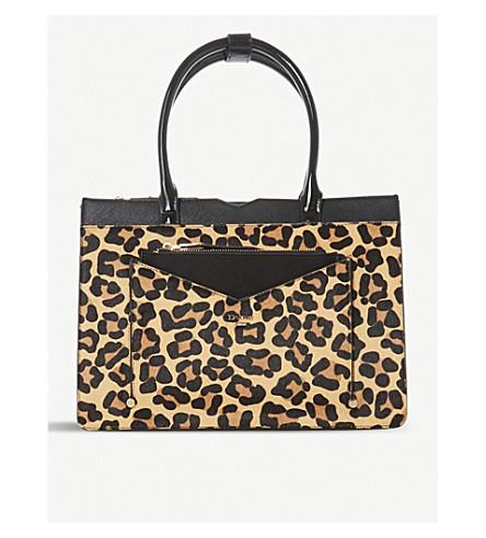 DUNE - Daran leopard-print leather tote bag  9d2120bbe3b69