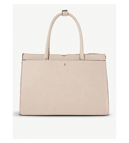 DUNE Daran large top handle tote bag (Blush-synthetic