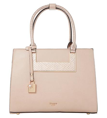 DUNE Crocodile-embossed handbag (Blush-synthetic