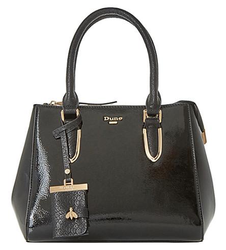 DUNE Denvie patent tote bag (Black-patent