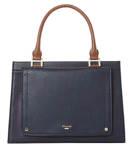 DUNE Dophie top handle handbag (Navy-synthetic