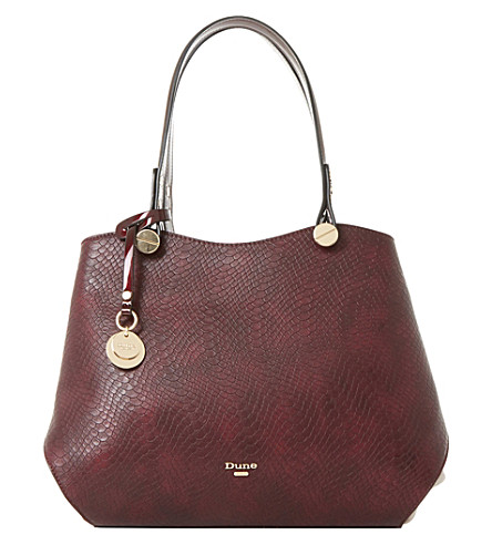 DUNE Imogen shoulder bag (Berry-plain+synthetic