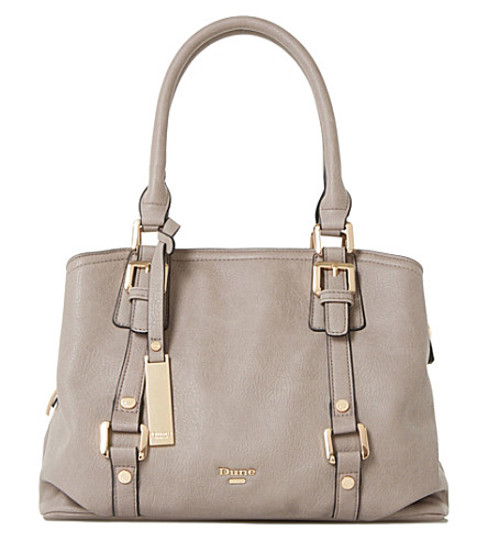 DUNE Dannah tote handbag (Grey-plain+synthetic