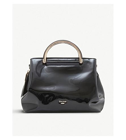DUNE Daandelion patent handbag (Black-patent