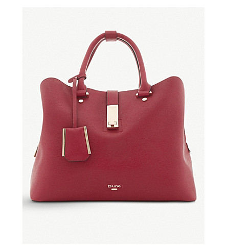 DUNE Diella faux-leather shopper handbag (Red-synthetic