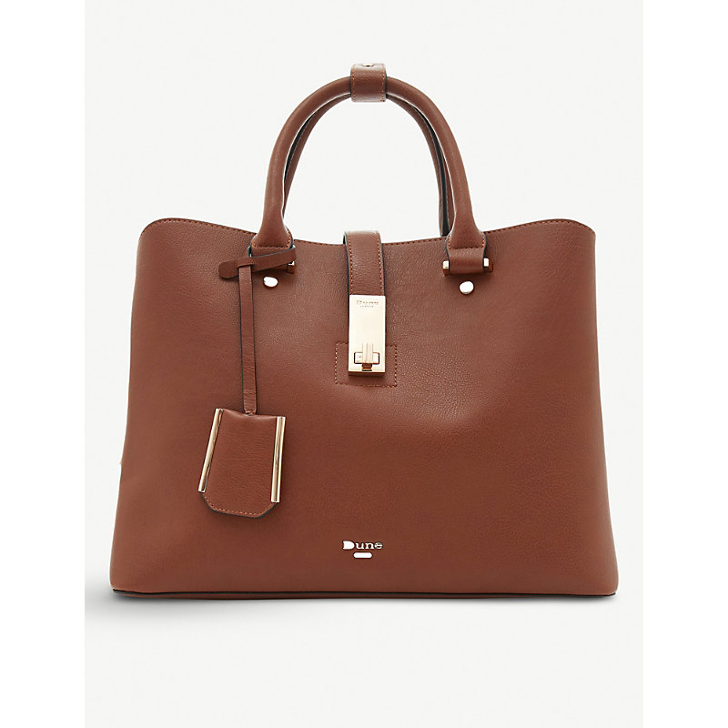 DUNE Diella faux-leather shopper handbag